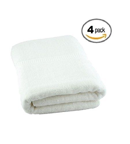 Deluxe Luxury Plush Oversized White Terry Bath Towel 34 x 70 Inch - 4pk  //Price: $ & FREE Shipping //     #Bathroom
