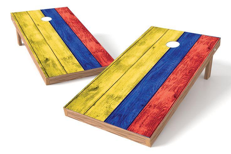 Columbia Flag Cornhole Board Set-Vintage