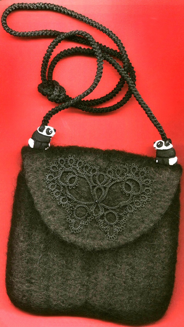 Pin by Creahelga on My Felted Purses Tatting lace