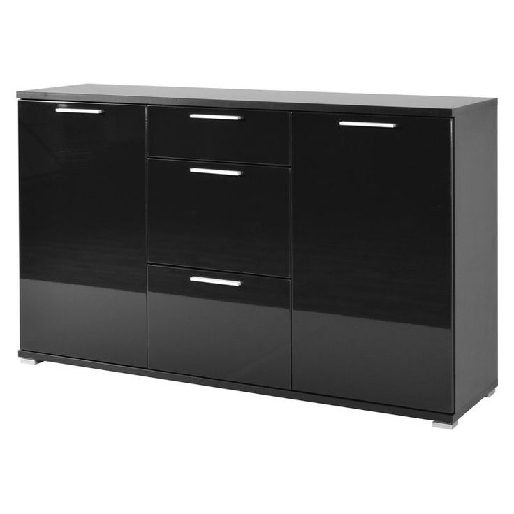 die besten 25 sideboard schwarz hochglanz ideen auf pinterest fernsehtisch mit rollen. Black Bedroom Furniture Sets. Home Design Ideas