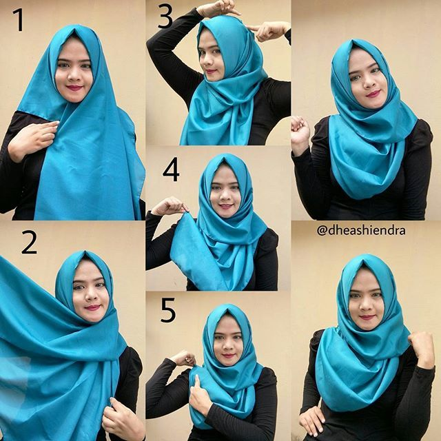 The good thing about silk hijabs is that they come in the most beautiful colors, and even though the fabric can sometimes be the most annoying one, it can also create some beautiful folds like the following one, it looks…