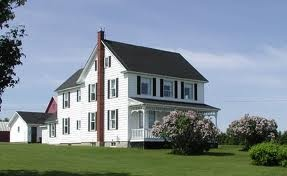 old white farm house, wrap around front porch and swing, big red barn, kids in the yard .... someday!