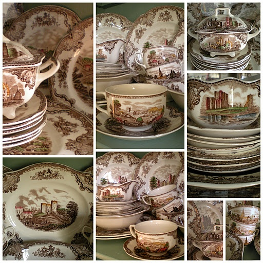 Landscape Transferware, I have actually collected several of these myself! I love brown and white dinnerware.: