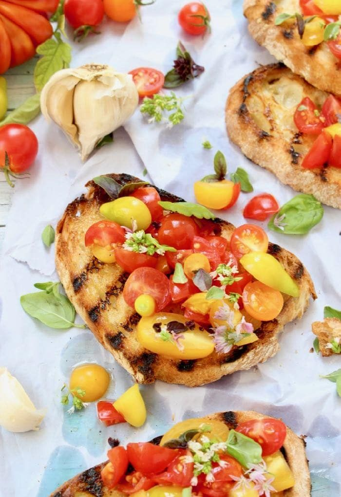 Best Tomato Bruschetta Recipe With Basil And Garlic