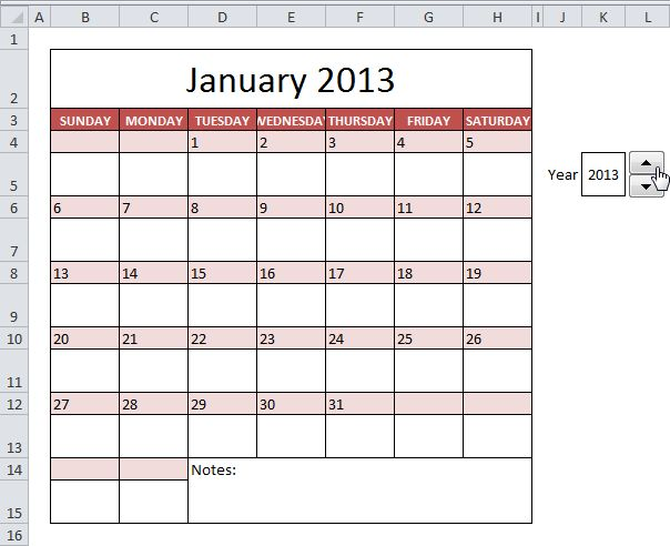 Publisher Weekly Calendar Template - Aztec Online