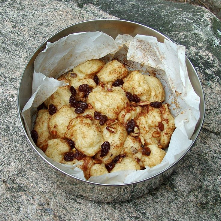 Cinnimon Bun Blobs--cooked on a camp stove. I have to try this!