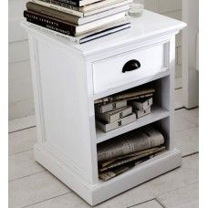 Whitehaven Painted Furniture Bedside Cabinet with Shelf