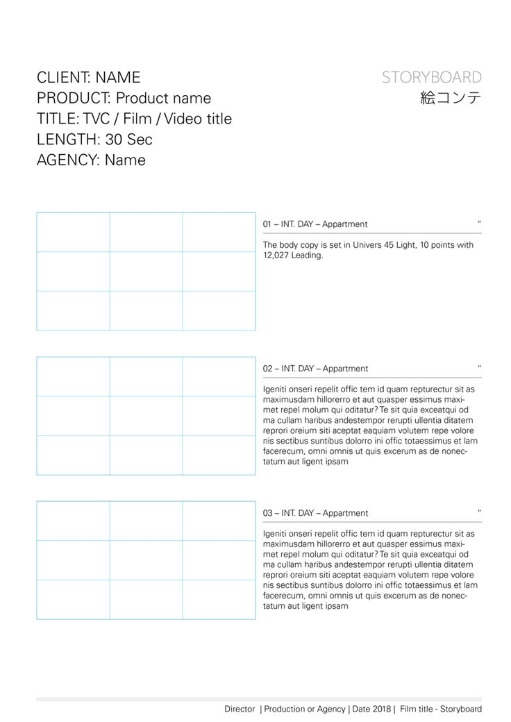 32 Best Storyboard Templates Images On Pinterest