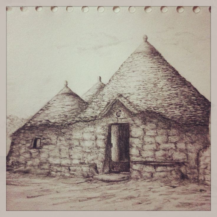 Sketch of Trullo in Italy...