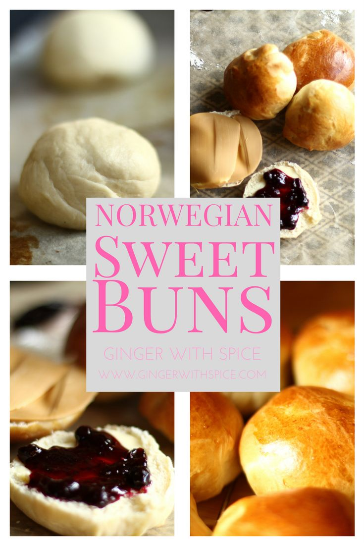 Norwegian Sweet Buns: Crispy exterior and juicy interior that melt on your tongue. The cardamom makes the house smell amazing when you put them in the oven. There's so much you can do with this recipe, add cinnamon, vanilla custard and coconut, chocolate, lemon and pistachios - the possibilities are endless. Click to find the recipe.
