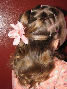 Mini puffy braids