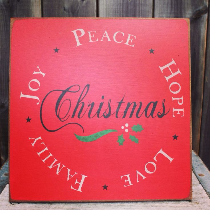 Christmas sign made by The Primitive Shed, St. Catharines