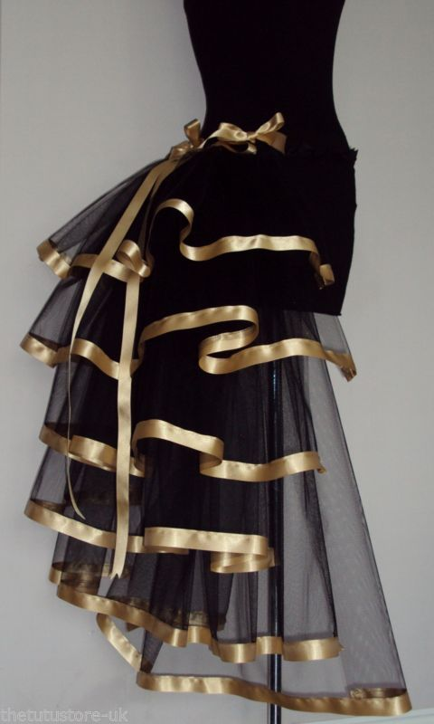 Burlesque Black Gold Bustle Belt Steam Punk sizes XS S M L XL The Tutu Store