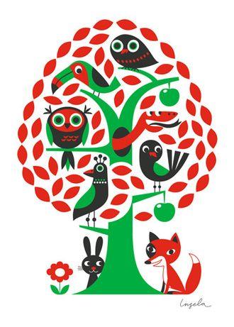 Träd affisch