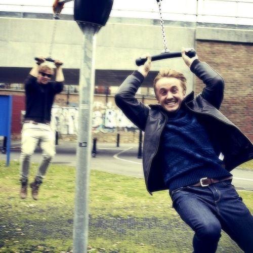 Rupert Grint & Tom Felton being kids. Any wonder why I love them??
