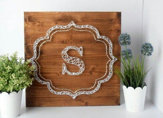 Monogram string art