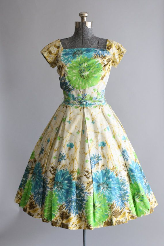 Vintage 1950s Dress / Flair of Miami / by TuesdayRoseVintage