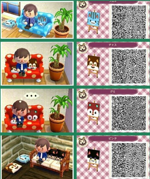 animal crossing qr codes | Animal Crossing - New Leaf Nintendo 3DS Custom Tiles QR Scan Codes (29 ...
