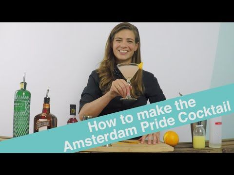 How to Make the Amsterdam Pride Cocktail - Cocktail Tutorial by Tess Posthumus - YouTube