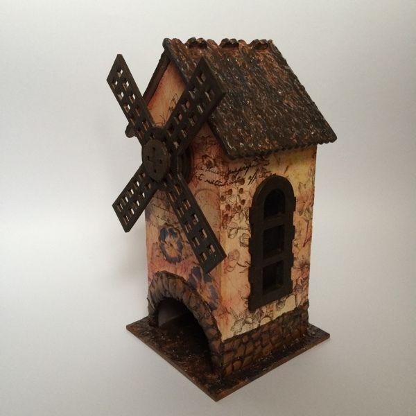 Купить Чайный домик СТАРАЯ МЕЛЬНИЦА - коричневый, чайный домик декупаж, мельница, кухонный интерьер