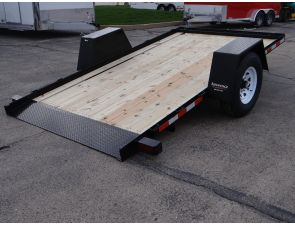 Custom 6' x 12' Scissor Lift Hauling Trailer. This Equipment Trailer Was Custom Ordered To Help Our Client Solve The Issue of Transporting Their Scissor Lift Between Different Job Sites. Call for more information on this trailer. Ref # 1141604 | Advantage Trailers and Hitches