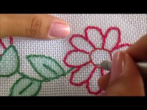 Russian punchneedle embroidery - part III -- fill in shapes