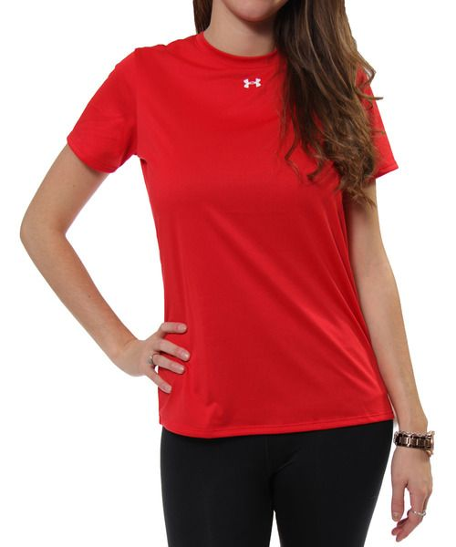 UA Locker SS Tee in Red/White by Under Armour, Inc