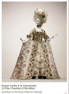 Robe a la Francaise, 1770s, Kyoto Costume Institute.  My jaw is hanging open.