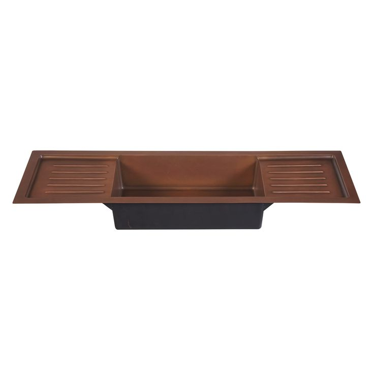 72 copper drop in sink with dual drain boards kitchen - Copper drop in kitchen sink ...
