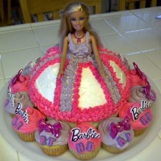 Barbie cake 5th birthday party