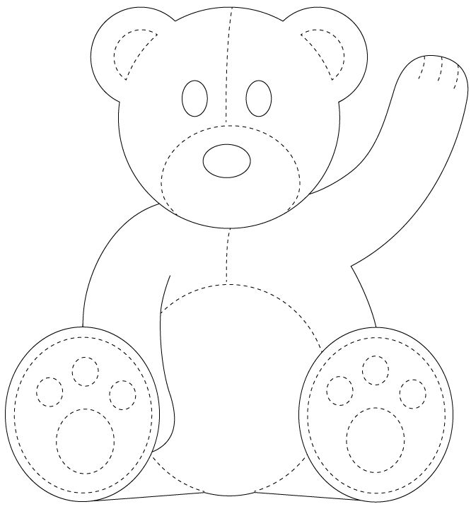 Influential image in teddy bear pattern printable