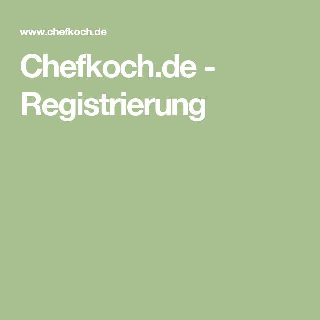 Chefkoch.de - Registrierung
