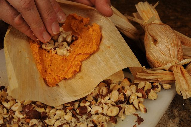 Smoky Sweet Potato and Pecan Tamales Recipe