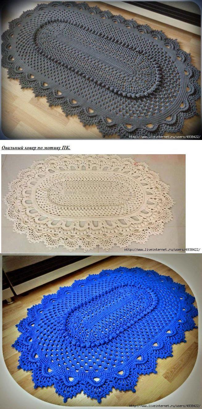 117 besten crochet rugs Bilder auf Pinterest | Teppich häkeln ...