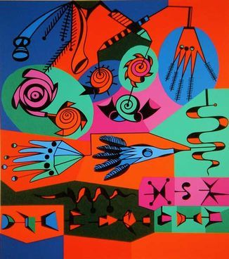 Alfred Pellan, Graffiti, sérigraphie