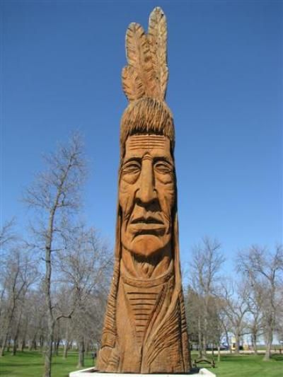 Whispering Giant, Winnipeg Beach, Manitoba. A tribute to the First Nations People of North America.