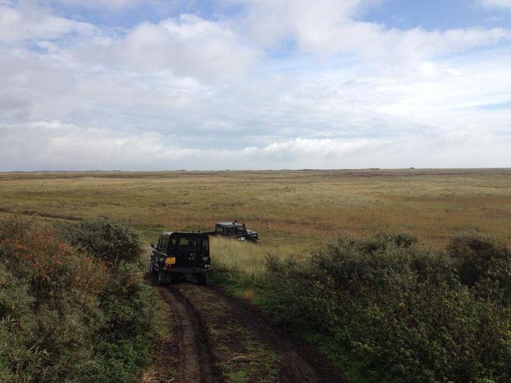 Landrover excursie naar de #boschplaat op #Terschelling in samenwerking met Staatsbosbeheer http://www.mooi-weer.nl/activiteiten+terschelling.php?page=Strandrijden#.U6foshZXYhk