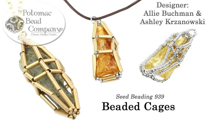 Beaded Cages~ Seed Bead Tutorials