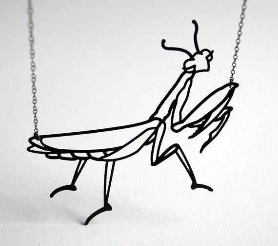 NEW Praying Mantis Necklace by megjroberts on Etsy