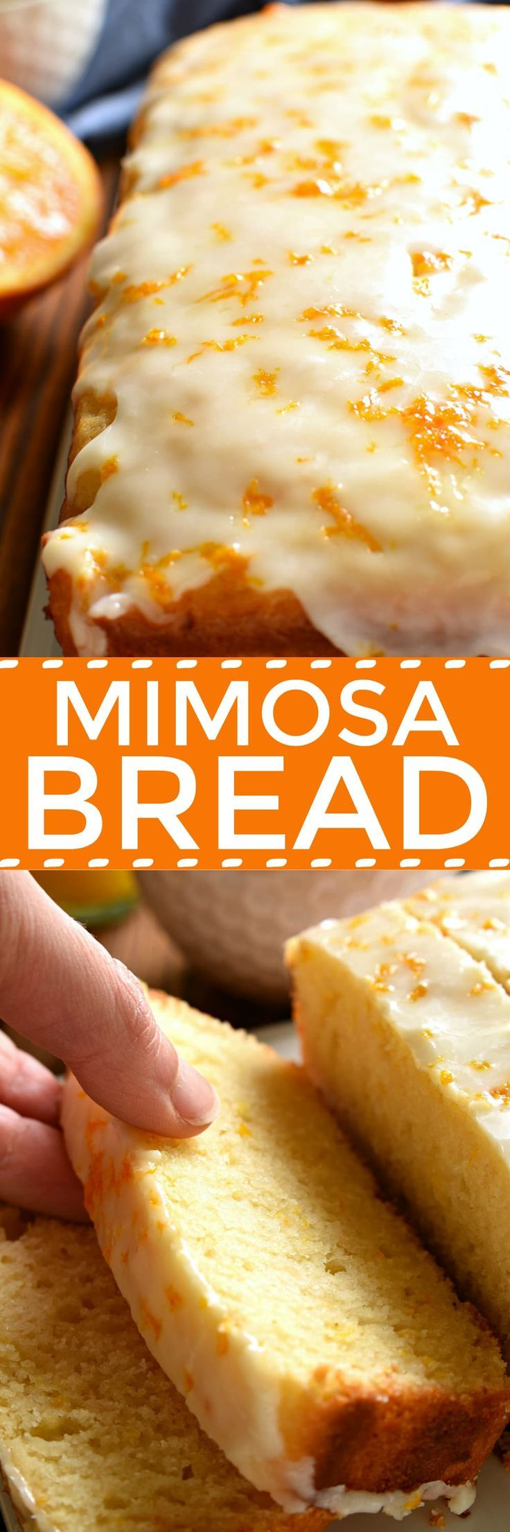 If you love mimosas, this Glazed Mimosa Bread is for you! A delicious quick bread that has all the flavors of your favorite breakfast cocktail, topped with a sweet orange champagne glaze. Perfect for (Bread Recipes To Try)
