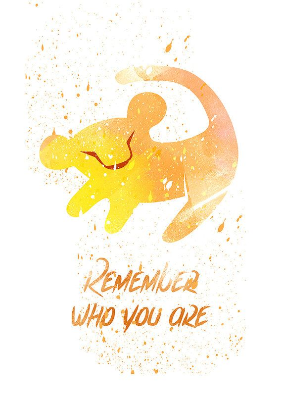 Lion King Remember who you are Disney fan Art by WatercolorDsgn                                                                                                                                                                                 More