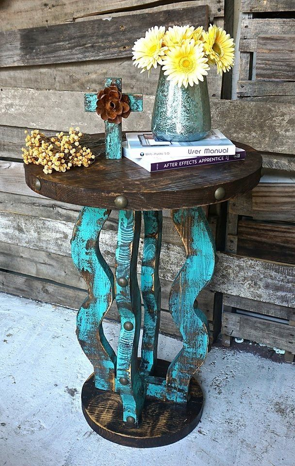 Adorable rustic end table