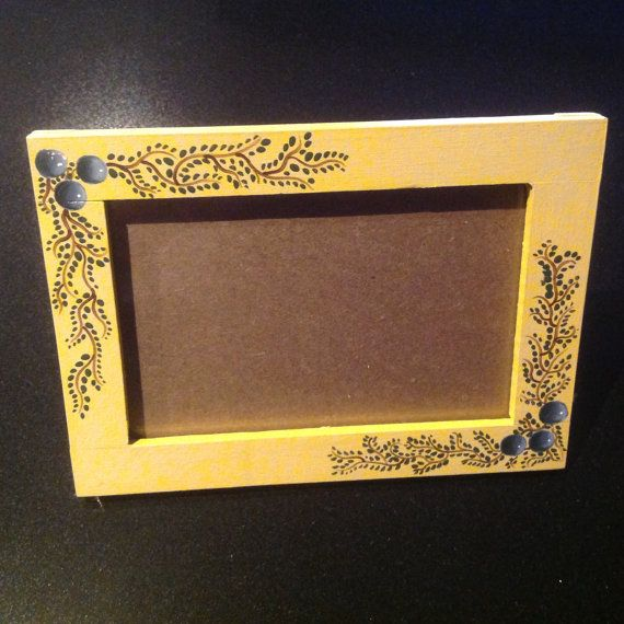 Wooden Picture frame by Sweetsundaycharm on Etsy