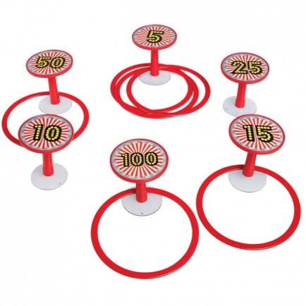 A fantastic 12 piece suction cup hoopla game!  A game of skill for one to six players. Place the suction hook targets at regular intervals on a clean hard and non-porous surface, placing the higher scoring targets further from the throwing point.  Little Boo-Teek - Lark Online | Kids Birthday Gifts | Retro Kids Toys Online | Lark Vintage Hoopla Game