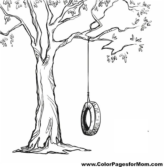 Coloring Pages About Trees Coloring Pages