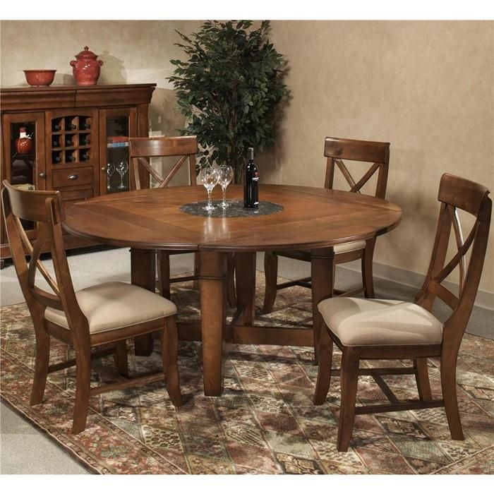 Verona 5 Piece Dining Table With 4 Chair In Italian Rustic