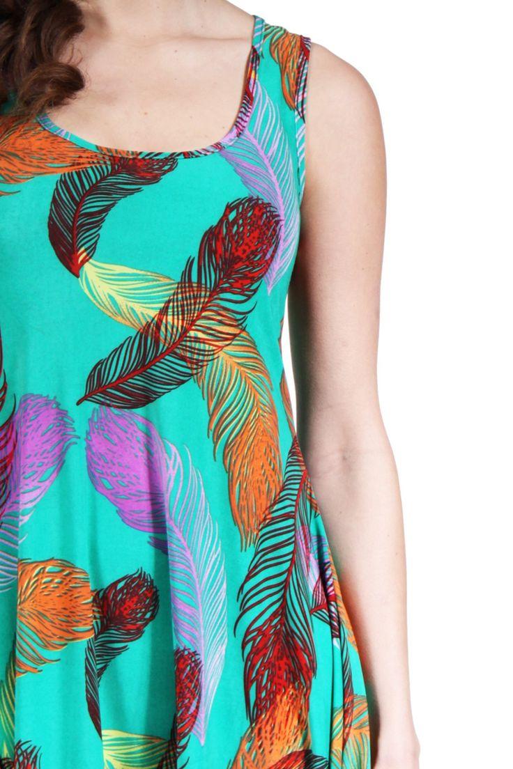 http://247comfortapparel.com/women/dresses/24-7-comfort-apparel-women-s-feather-print-sleeveless-tank-dress-12965.html