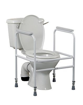 Homecraft Adjustable Toilet Surround 10132531 176 Advantage card points. Adjustable Toilet Surround. Gives support and independence to those that need help lowering and rising when using the toilet. Maximum user weight 160kg (25st). FREE Delivery http://www.MightGet.com/april-2017-1/homecraft-adjustable-toilet-surround-10132531.asp