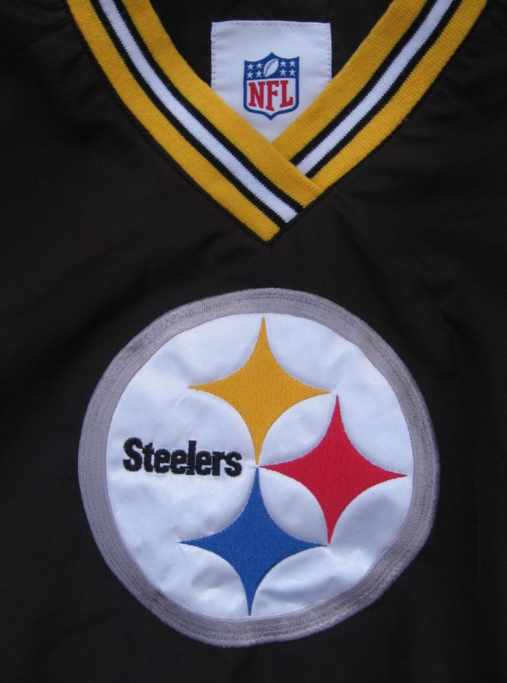 Vintage Pittsburgh Steelers Pull-Over Nylon Jacket, NFL Lined Jacket, Steelers Polyester Pullover, Polyester Shell Fully Lined, Size M by RockvilleCraft on Etsy