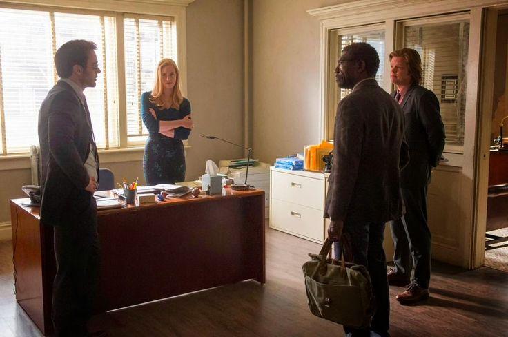 Charlie Cox, Deborah Ann Woll and Elden Henson in Netflix's Daredevil TV series